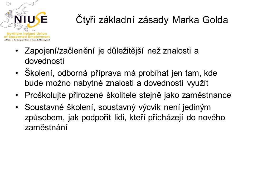 Čtyři základní zásady Marka Golda