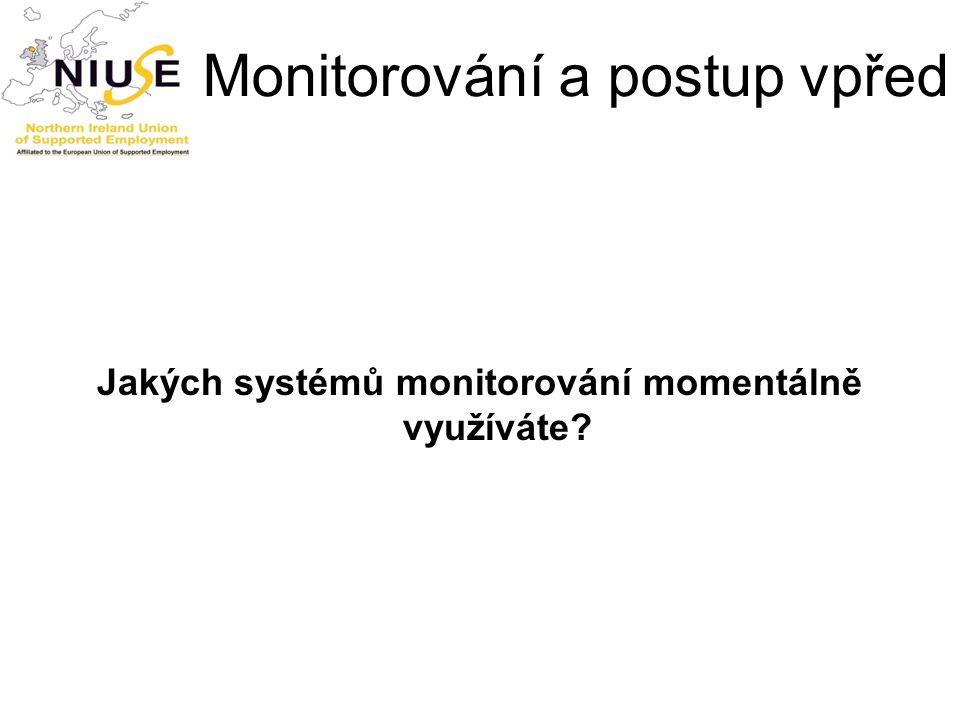 Monitorování a postup vpřed