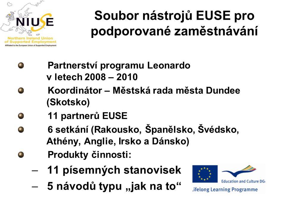 Soubor nástrojů EUSE pro podporované zaměstnávání