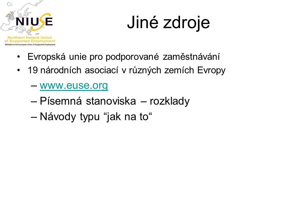 Jiné zdroje www.euse.org Písemná stanoviska – rozklady