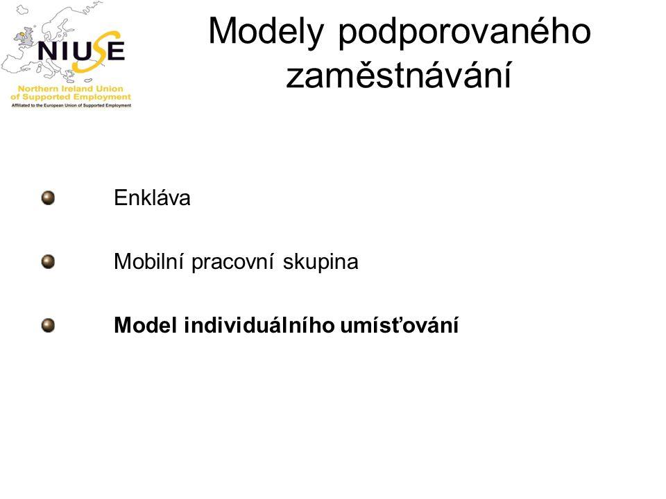 Modely podporovaného zaměstnávání