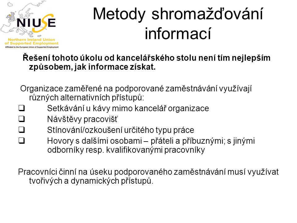 Metody shromažďování informací