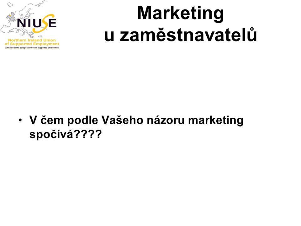 Marketing u zaměstnavatelů