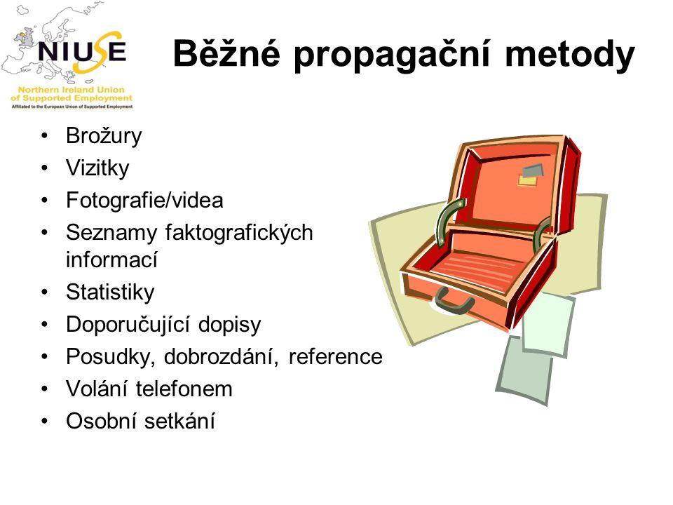 Běžné propagační metody