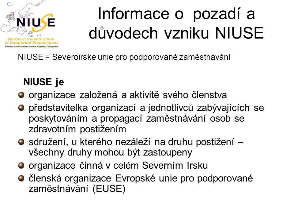 Informace o pozadí a důvodech vzniku NIUSE