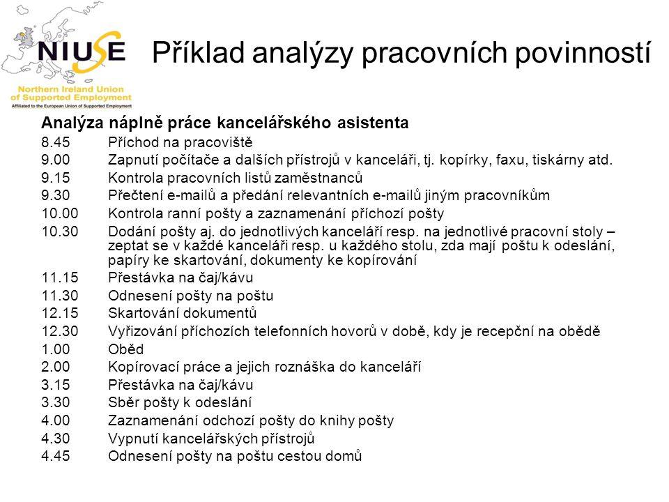 Příklad analýzy pracovních povinností