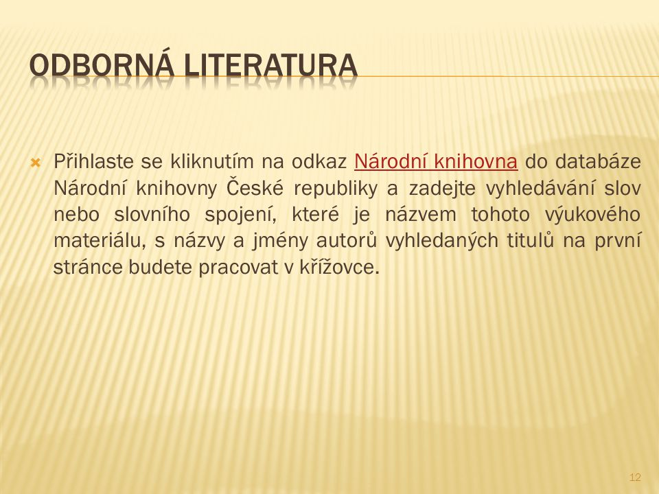 Odborná literatura