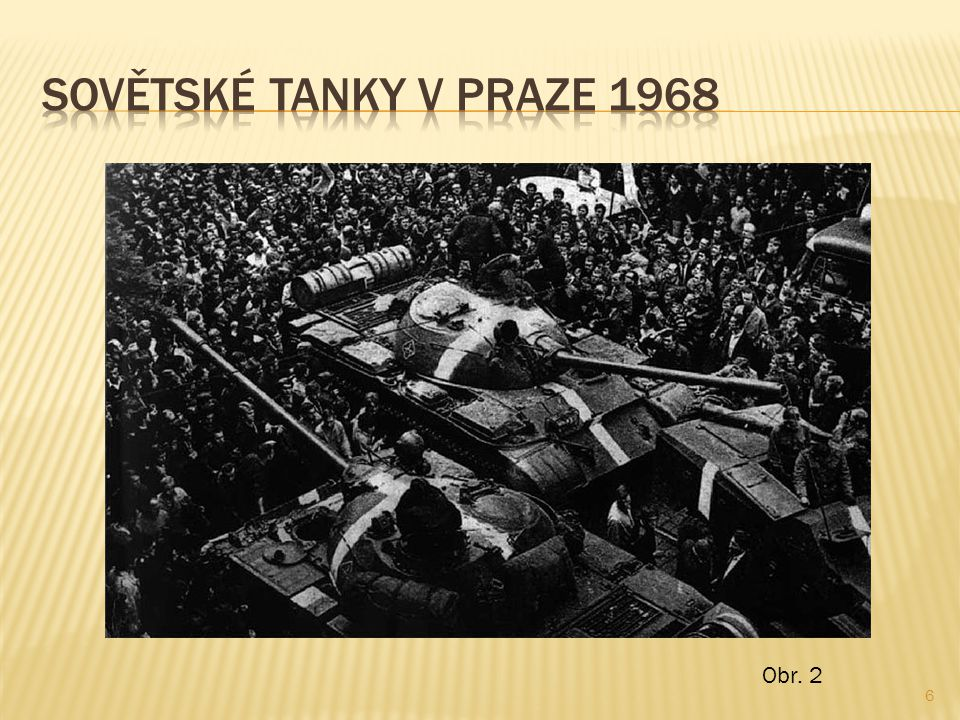 Sovětské tanky v Praze 1968 Obr. 2