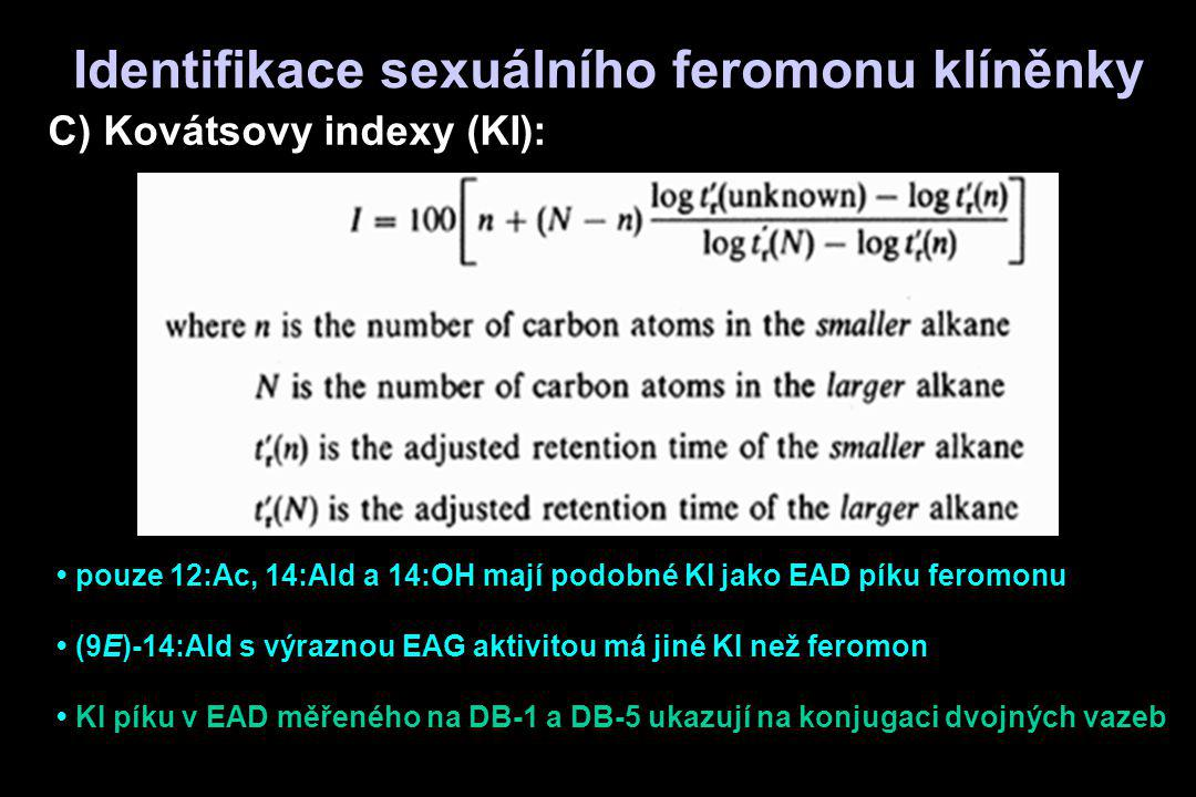 Identifikace sexuálního feromonu klíněnky