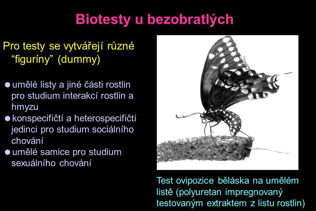 Biotesty u bezobratlých
