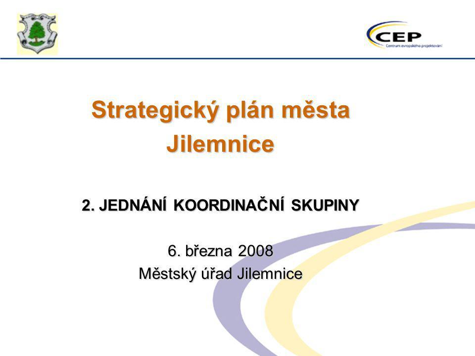 Strategický plán města 2. JEDNÁNÍ KOORDINAČNÍ SKUPINY