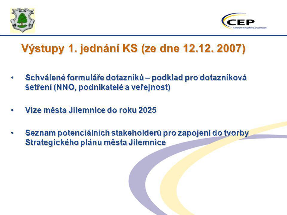 Výstupy 1. jednání KS (ze dne 12.12. 2007)