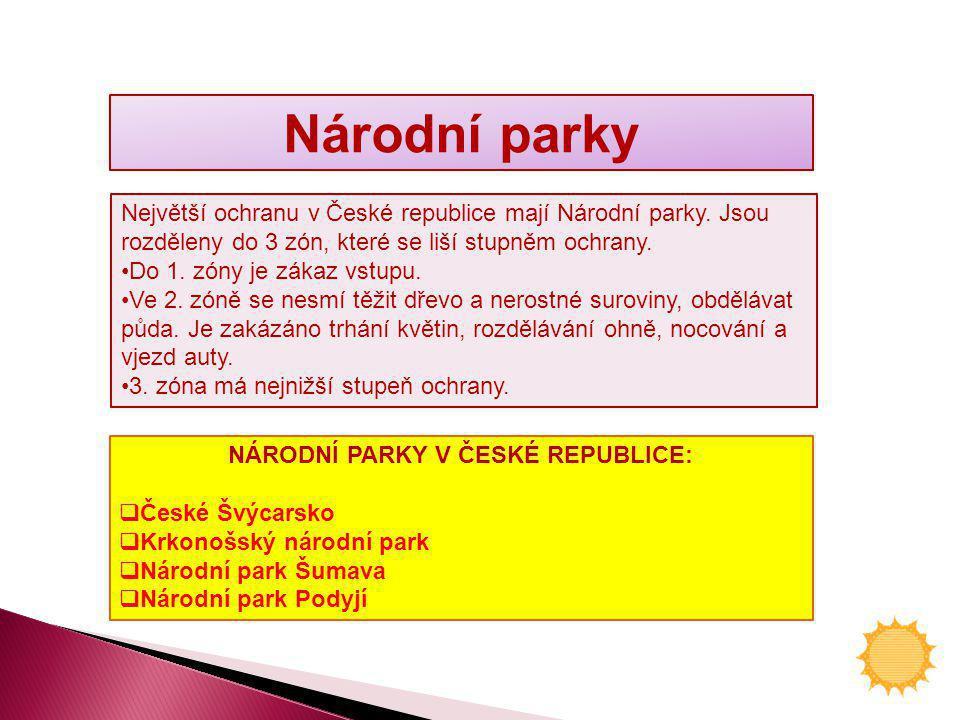 NÁRODNÍ PARKY V ČESKÉ REPUBLICE: