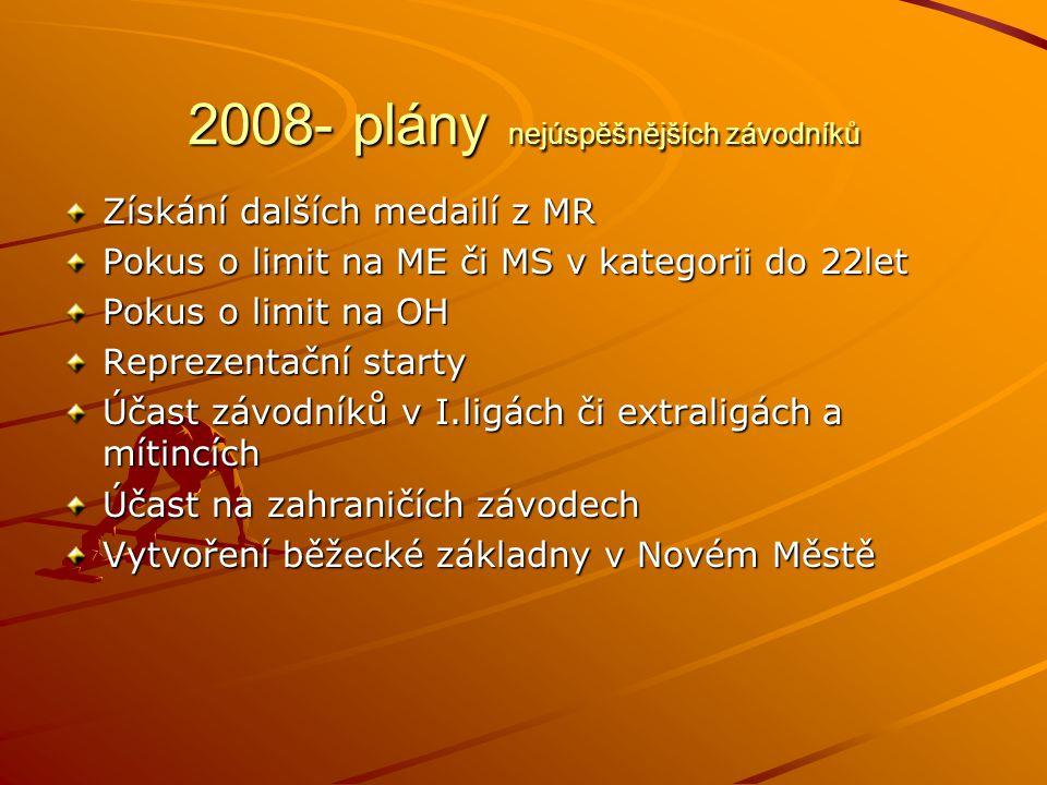 2008- plány nejúspěšnějších závodníků