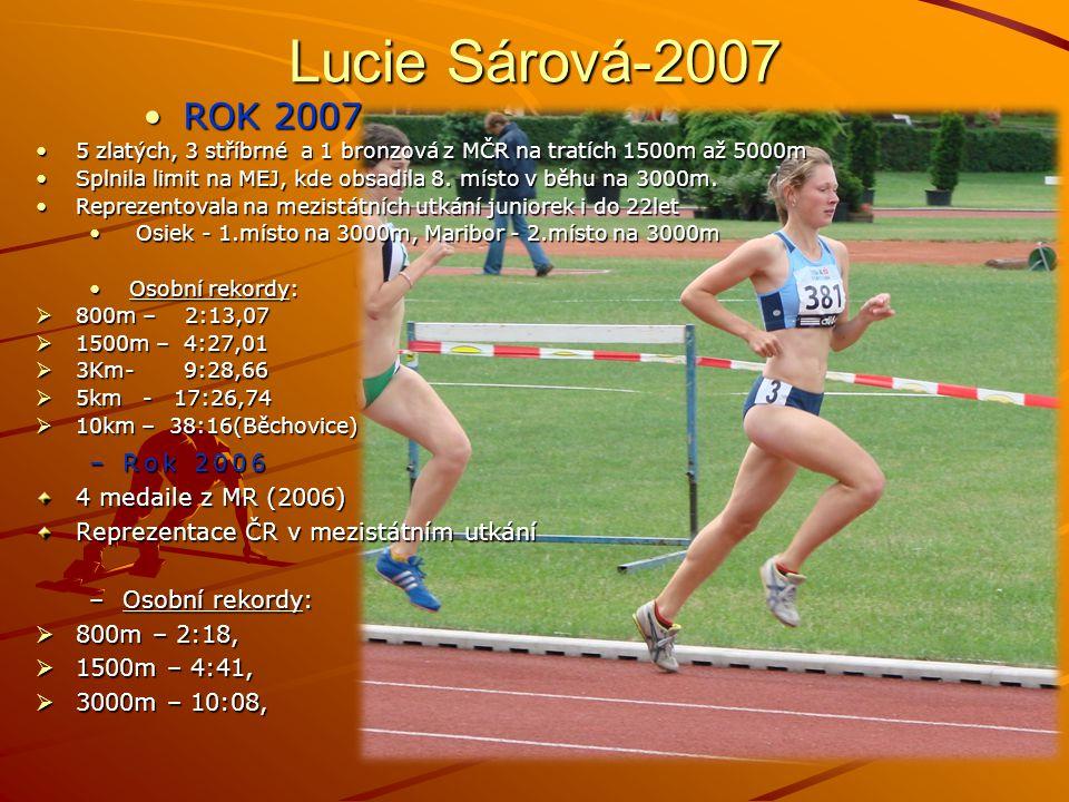 Lucie Sárová-2007 ROK 2007 Rok 2006 4 medaile z MR (2006)