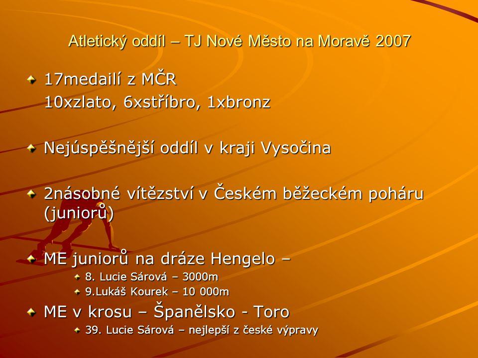 Atletický oddíl – TJ Nové Město na Moravě 2007