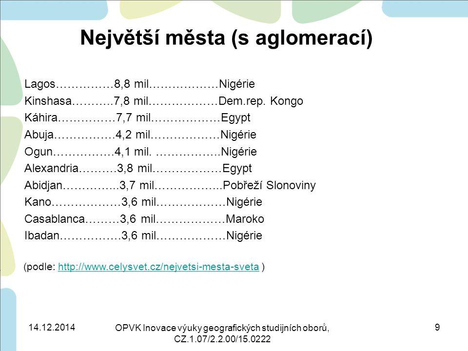 Největší města (s aglomerací)