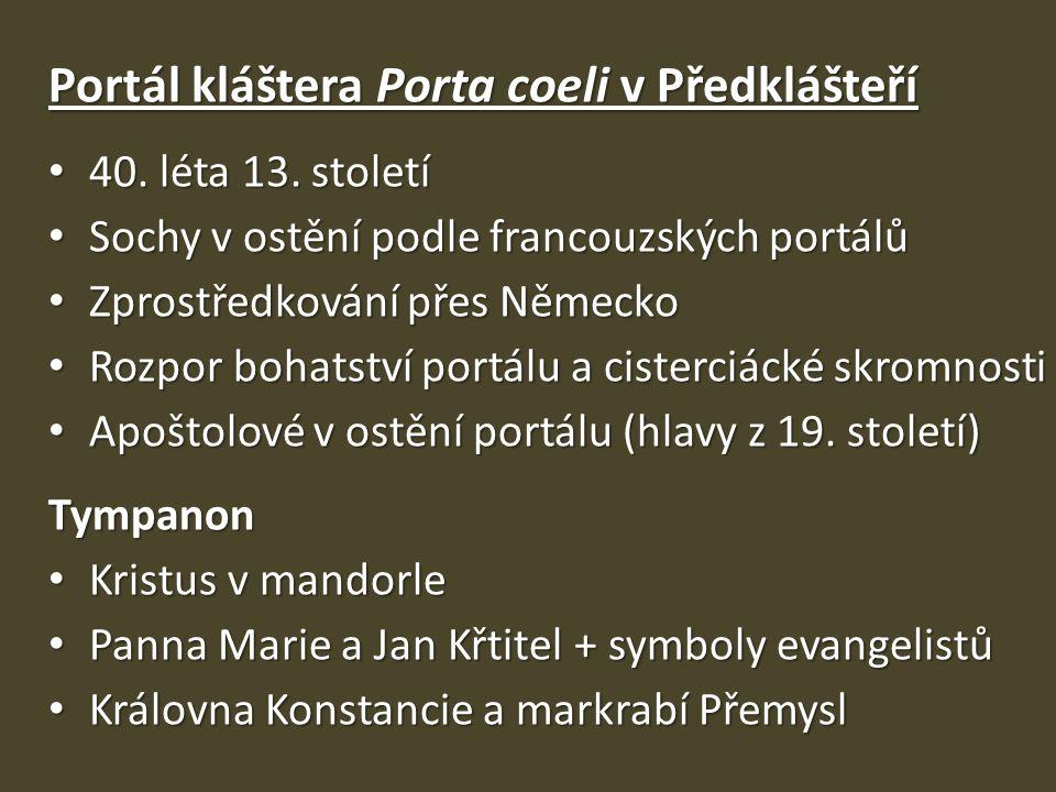 Portál kláštera Porta coeli v Předklášteří
