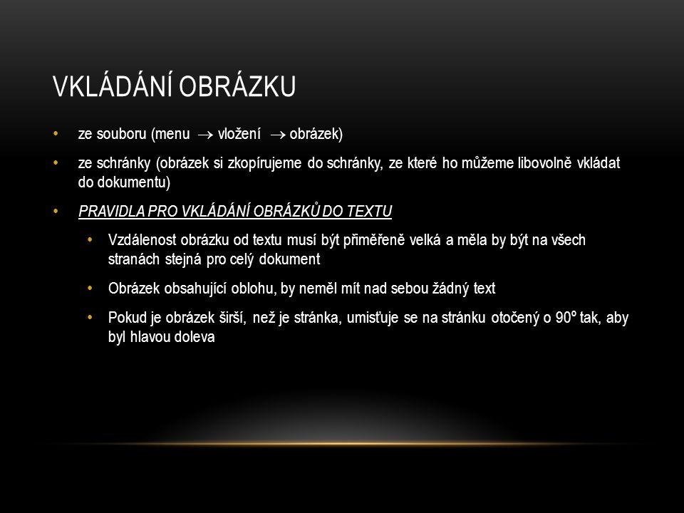 Vkládání obrázku ze souboru (menu  vložení  obrázek)
