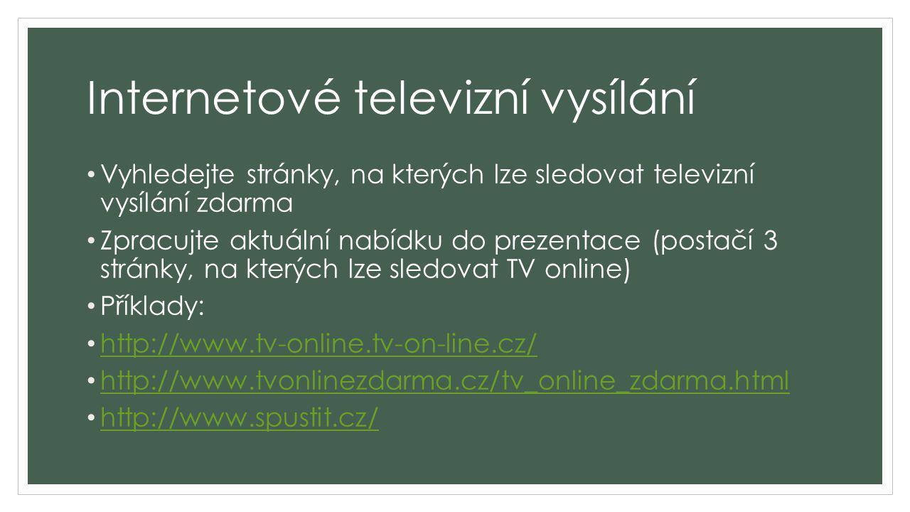 Internetové televizní vysílání