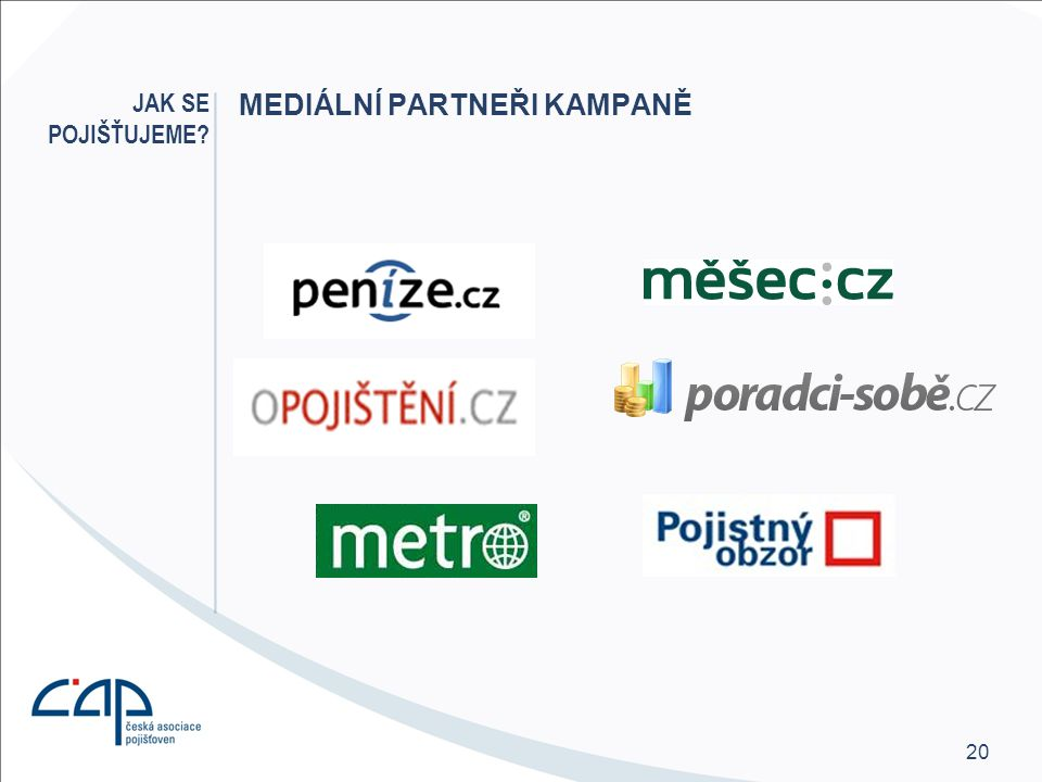 Mediální partneři kampaně