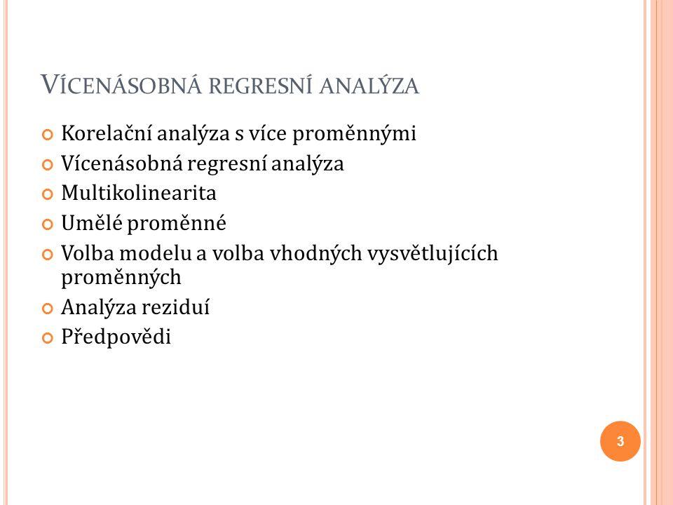 Vícenásobná regresní analýza