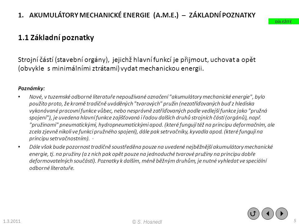 AKUMULÁTORY MECHANICKÉ ENERGIE (A.M.E.) – ZÁKLADNÍ POZNATKY