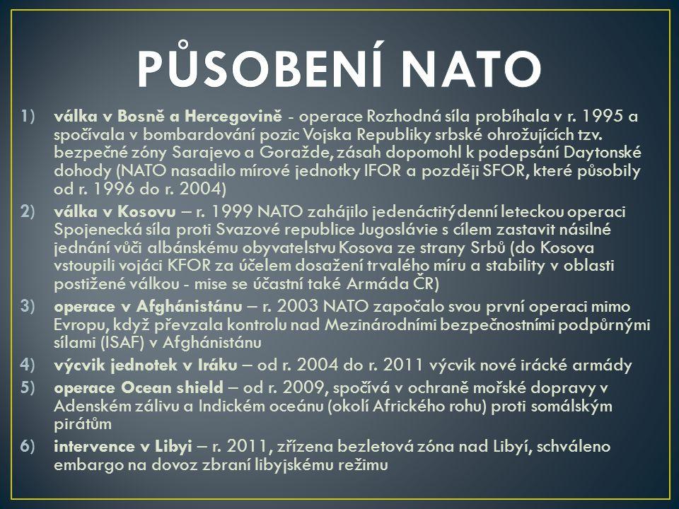 PŮSOBENÍ NATO