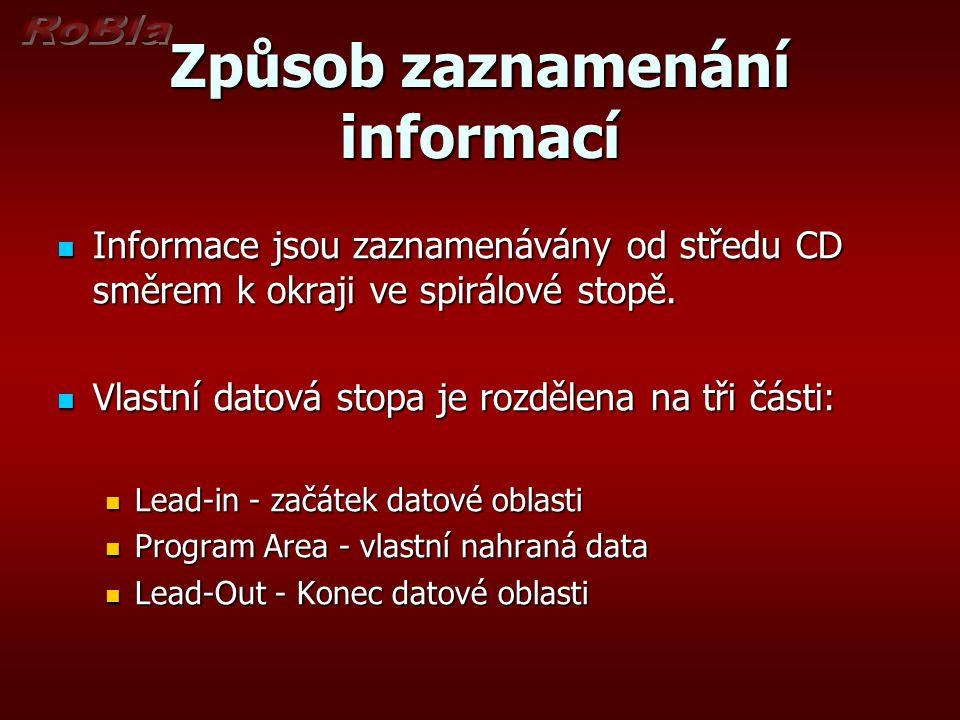 Způsob zaznamenání informací