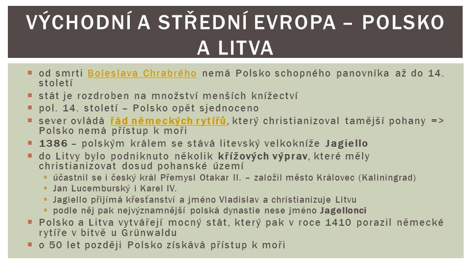 Východní a Střední Evropa – Polsko a Litva
