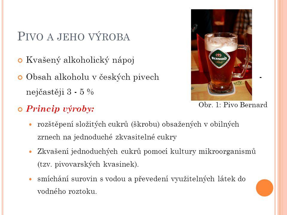 Pivo a jeho výroba Kvašený alkoholický nápoj