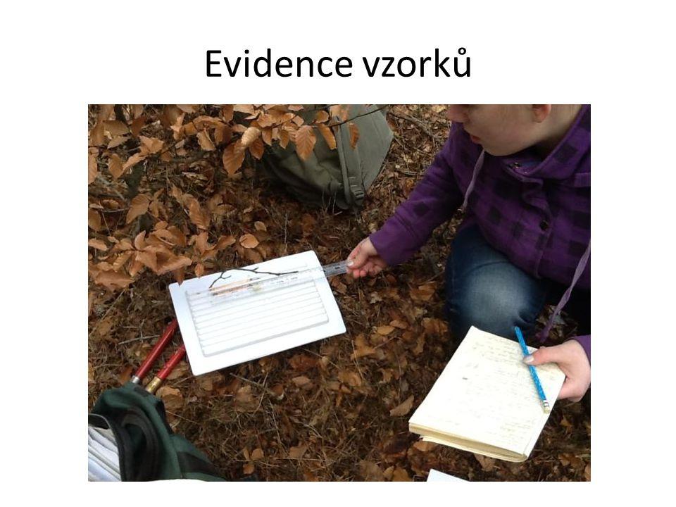 Evidence vzorků