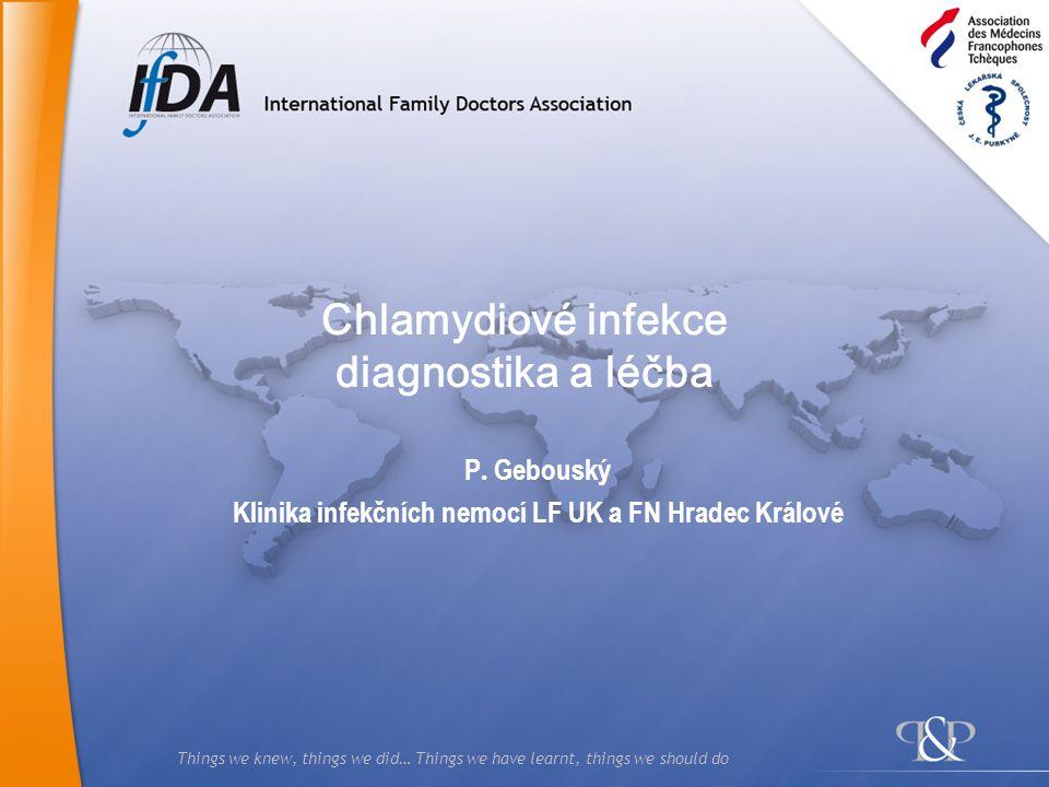 Chlamydiové infekce diagnostika a léčba