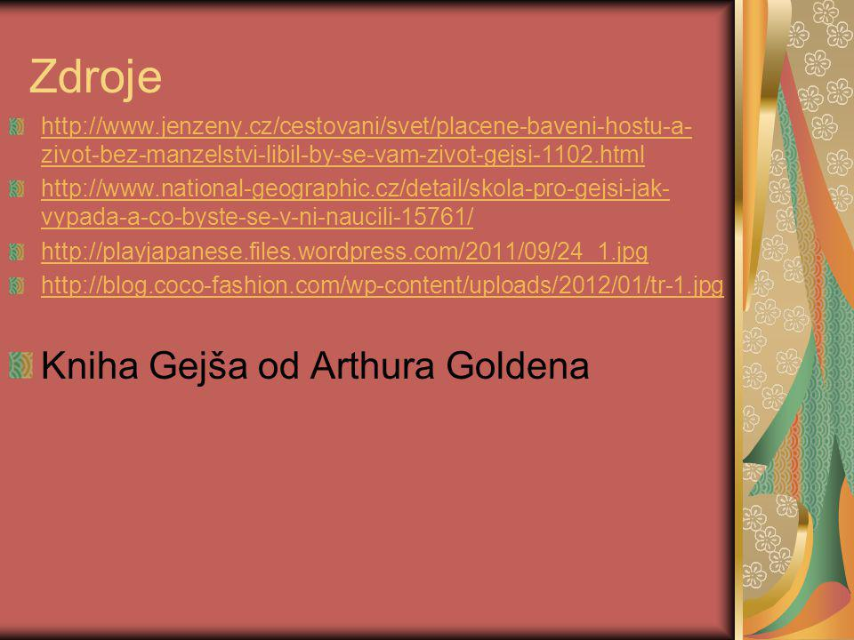 Zdroje Kniha Gejša od Arthura Goldena