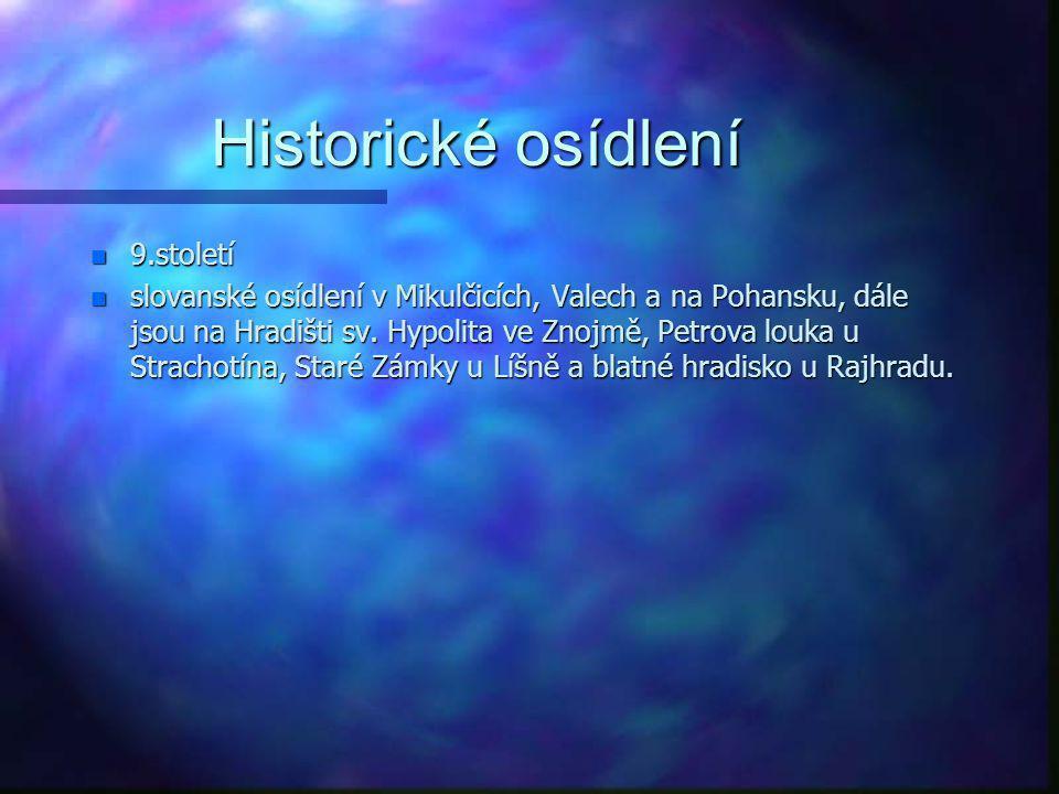 Historické osídlení 9.století
