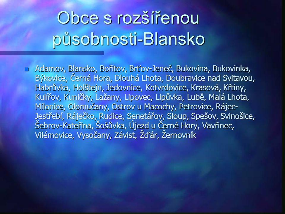 Obce s rozšířenou působnosti-Blansko