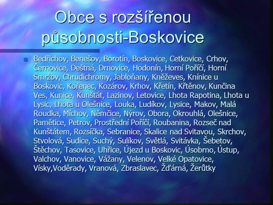 Obce s rozšířenou působnosti-Boskovice