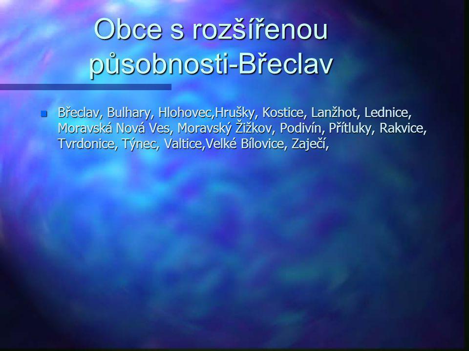 Obce s rozšířenou působnosti-Břeclav