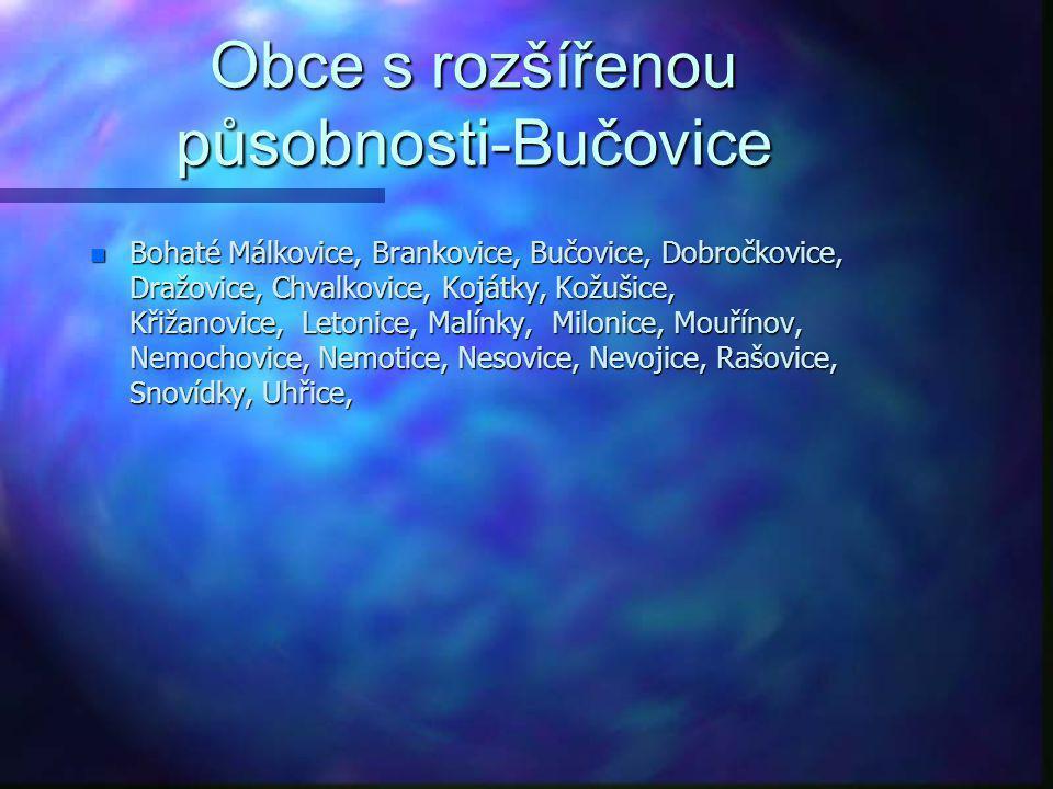 Obce s rozšířenou působnosti-Bučovice