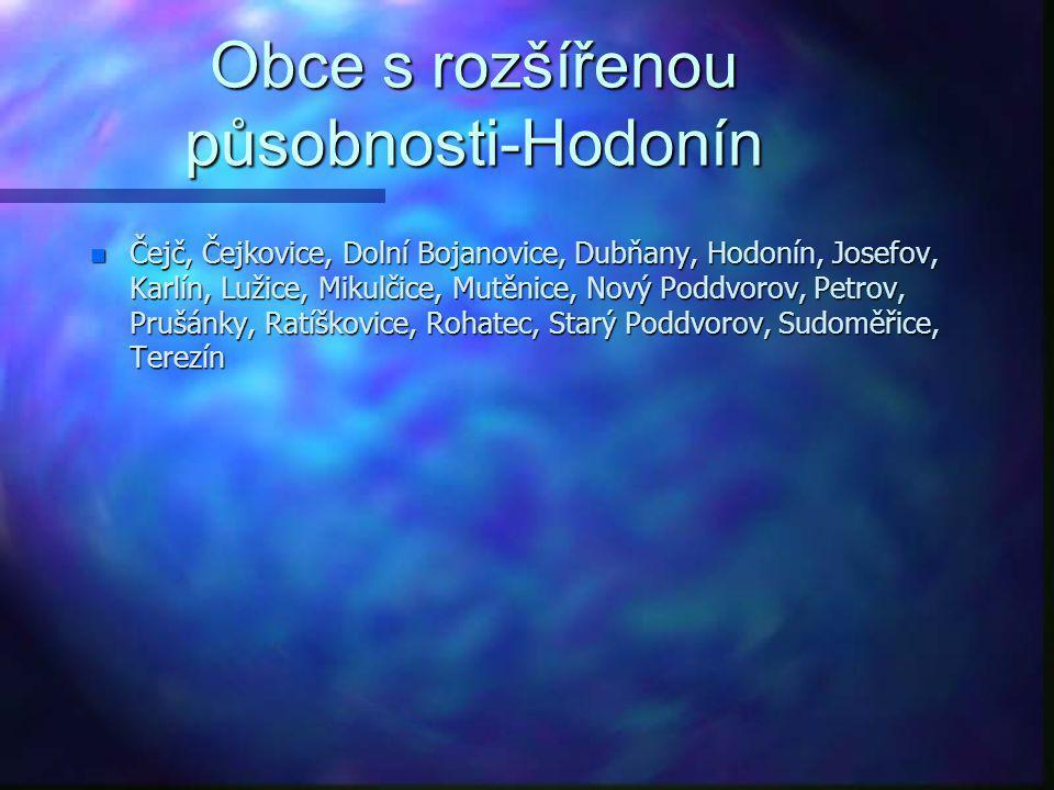 Obce s rozšířenou působnosti-Hodonín