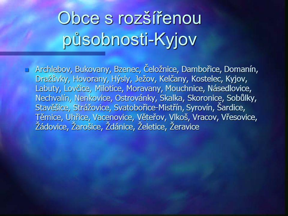 Obce s rozšířenou působnosti-Kyjov