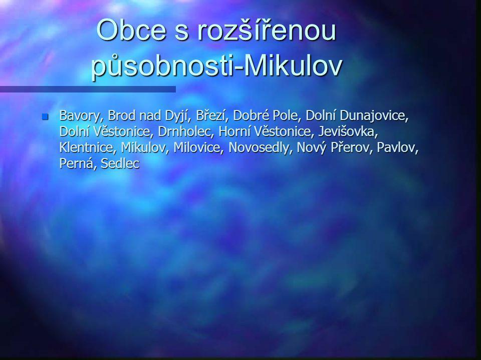 Obce s rozšířenou působnosti-Mikulov