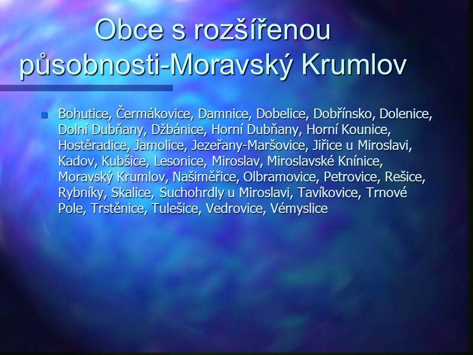 Obce s rozšířenou působnosti-Moravský Krumlov