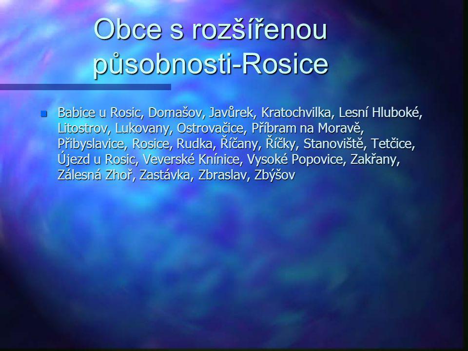 Obce s rozšířenou působnosti-Rosice