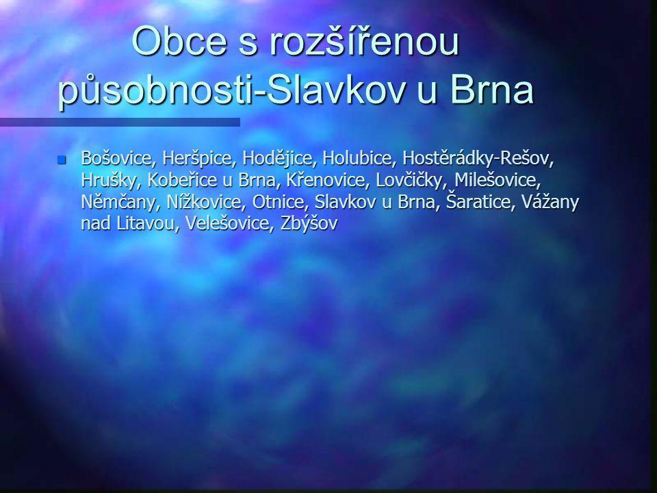 Obce s rozšířenou působnosti-Slavkov u Brna