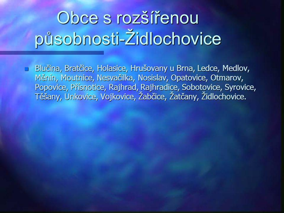 Obce s rozšířenou působnosti-Židlochovice
