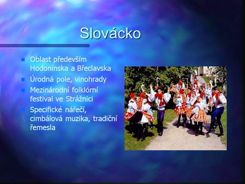 Slovácko Oblast především Hodonínska a Břeclavska