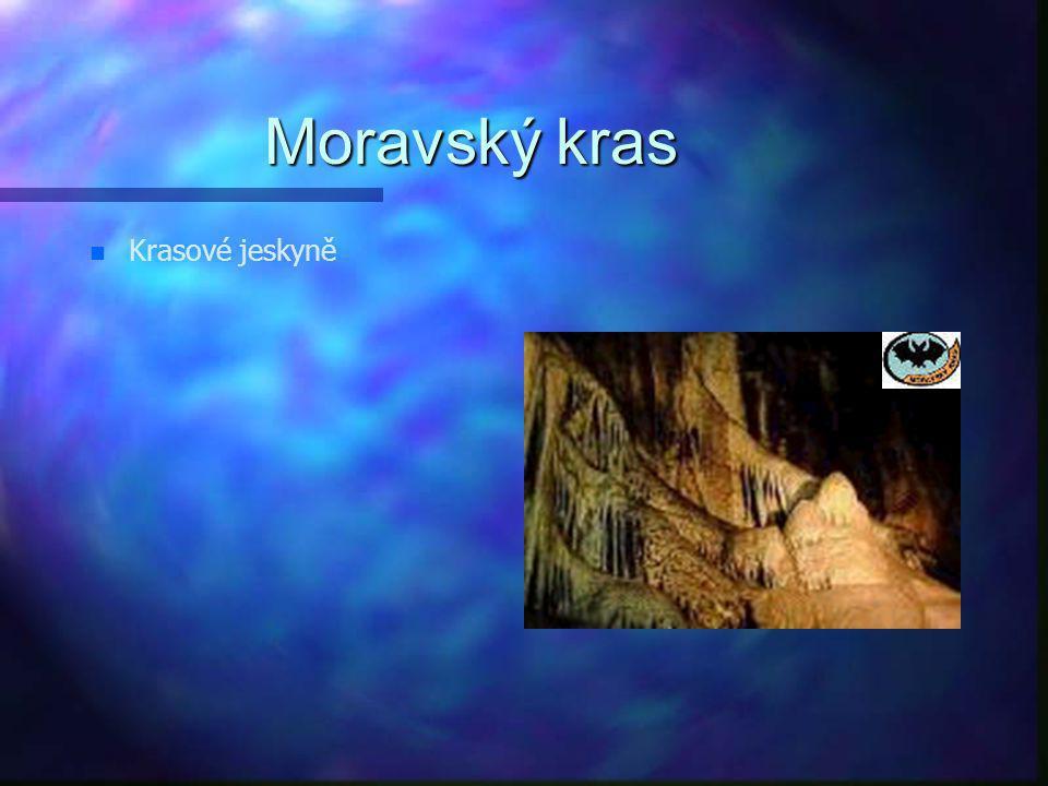 Moravský kras Krasové jeskyně