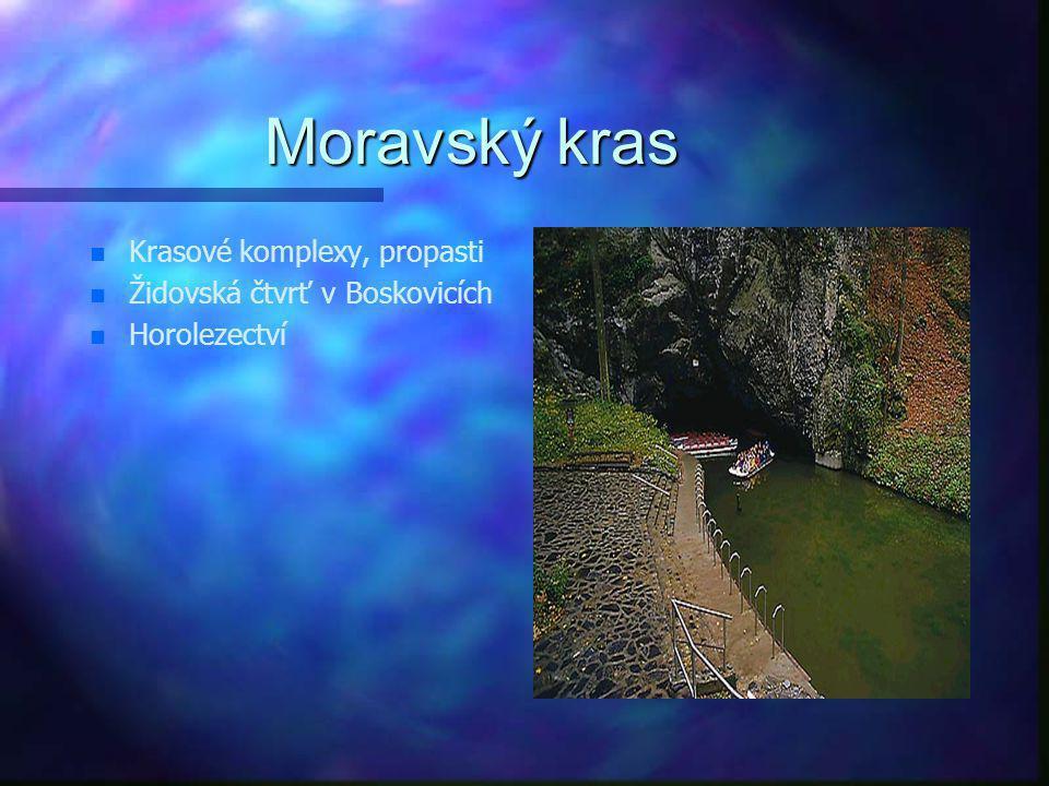 Moravský kras Krasové komplexy, propasti Židovská čtvrť v Boskovicích