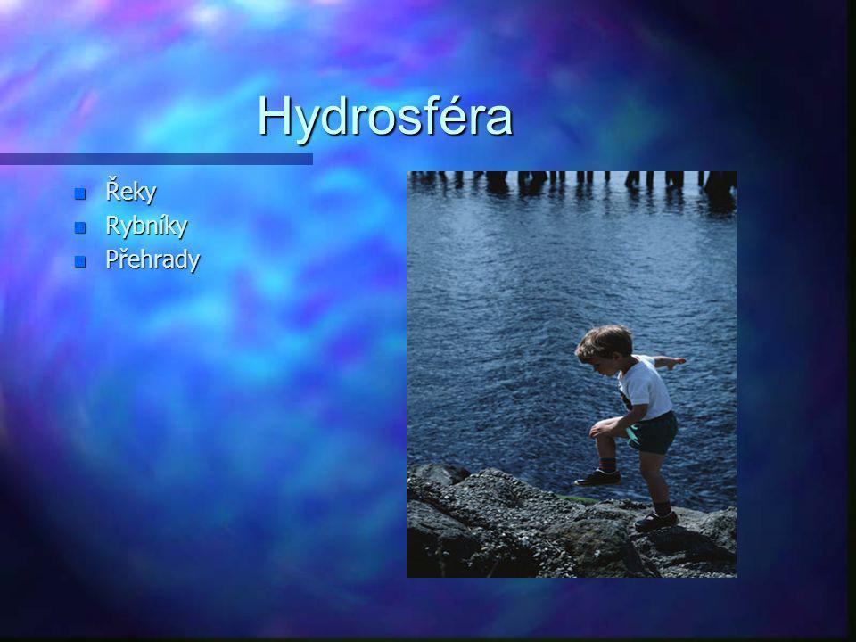 Hydrosféra Řeky Rybníky Přehrady